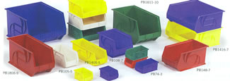 Assorted Plastic Part Bins