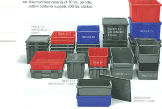 Assorted Plastic Totes
